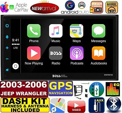 Apple Stereo-system (03-06 JEEP WRANGLER TJ GPS NAVIGATION SYSTEM APPLE CARPLAY ANDROID AUTO STEREO)