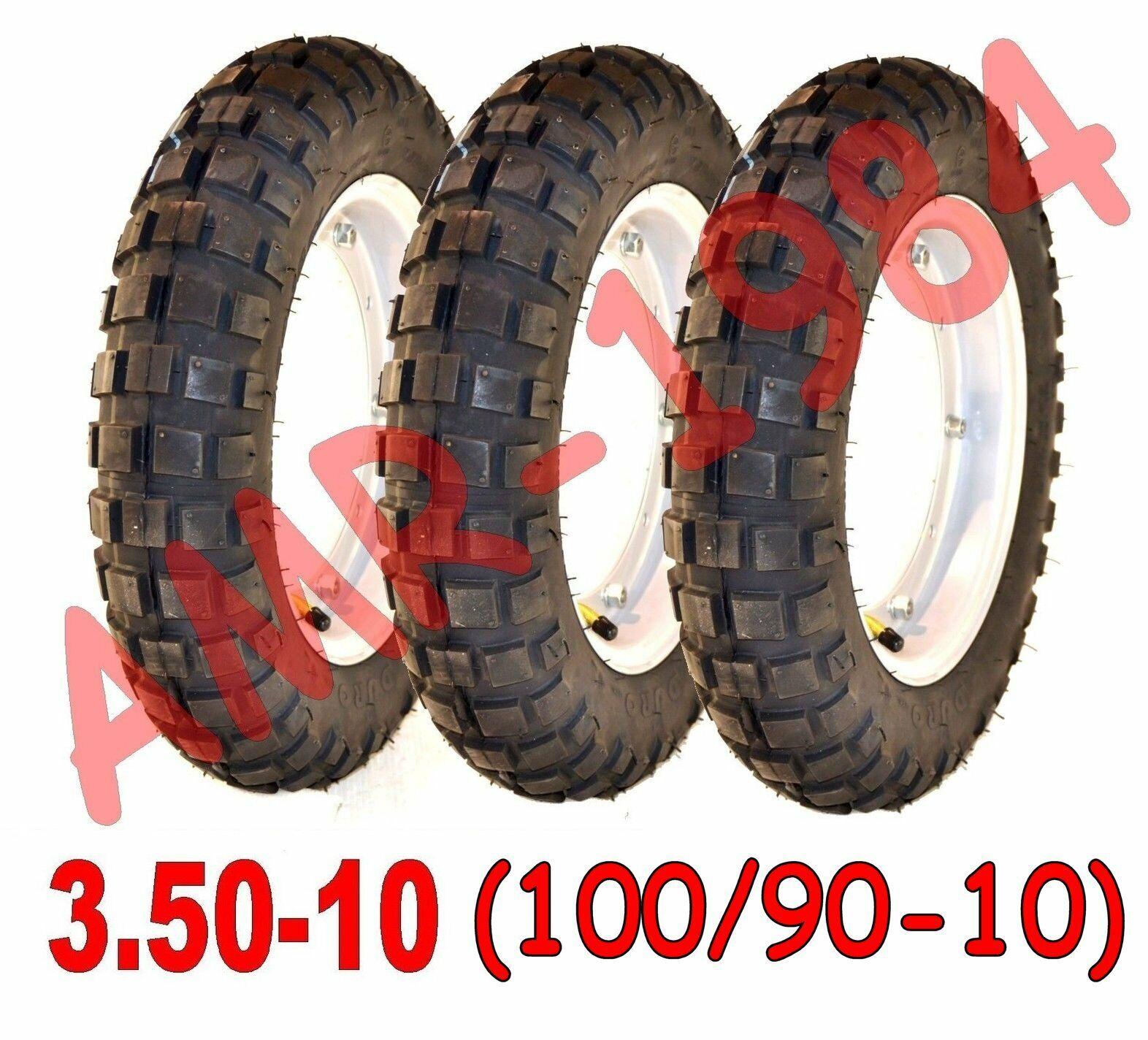 CAMERA D/'ARIA PNEUMATICO CROSS 100//90-10 PIAGGIO APE 50 TASSELLATO COPERTONE