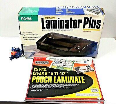Laminator Plus Royal Superguard Business Card Letter Legal Pouch Laminate Extras