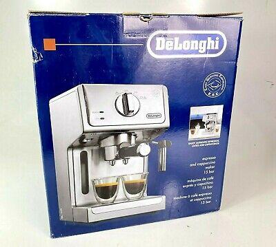 DeLonghi ECP3620 15 Bar Espresso and Cappuccino Maker Machine Silver New OpenBox