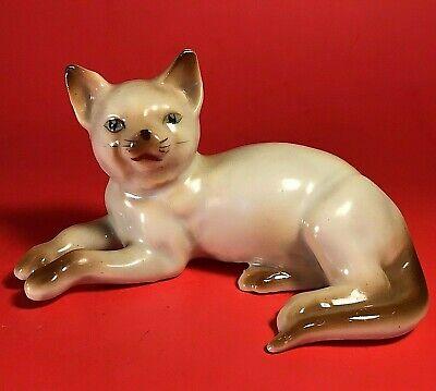Vintage Rocking Cat Figurine Stamped Japan Old Kitty Figure Happy Cat