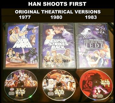 Star Wars Trilogy Original Theatrical Versions Release Cut: HAN SHOOTS 1st
