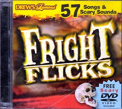 FRIGHT FLICKS HALLOWEEN: 57 SONGS & SCARY SOUNDS CD + VIRTUAL HAUNTED HOUSE DVD!](Scary Halloween Sounds Songs)