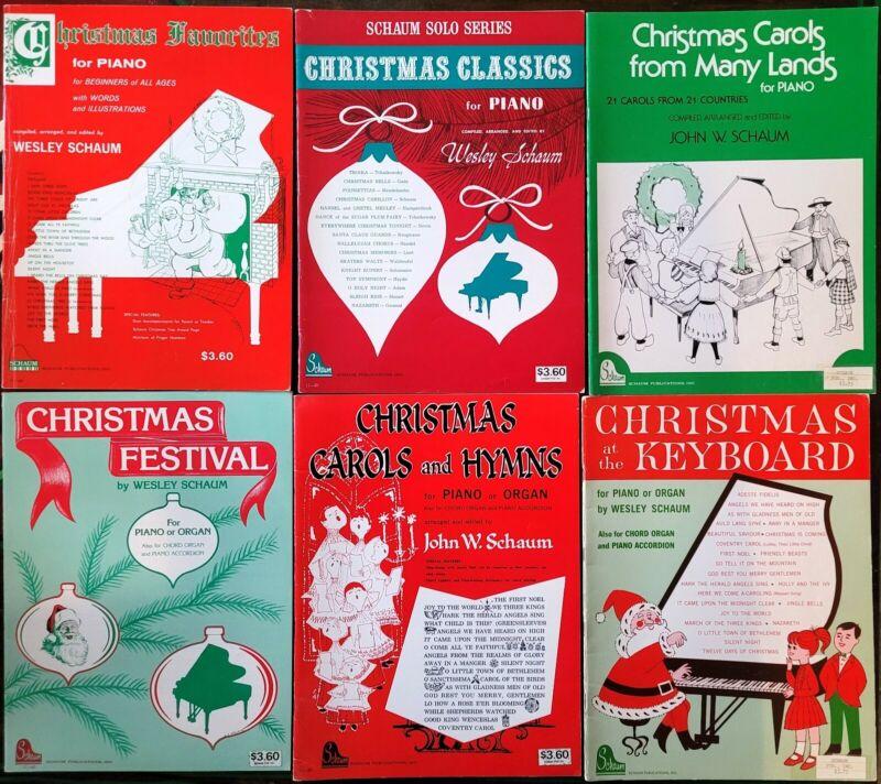 John W. Schaum Christmas Song Books for Solo Piano - Intermediate Level