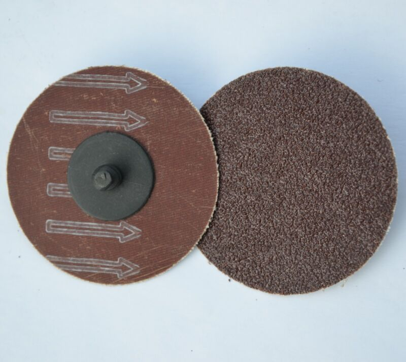 "50  3"" Abrasive Sanding Disc Type R Roloc A/O 60 Grit Twist Lock"