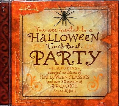 Hallmark HALLOWEEN COCKTAIL PARTY: SPOOKY LOUNGE MUSIC & SOUND EFFECTS CD! RARE!