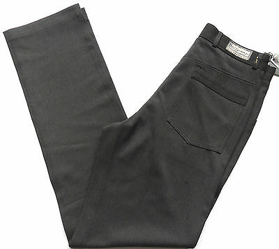Men's Smart Pants Bi-stretch Lycra Charcoal & Black Waist Sizes: 28 - 38