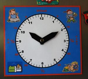 Kids Magnetic Learning Clock - help your child learn to tell  time the fun way!