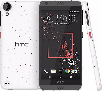 "HTC Long 530, 5"" Screen, White, 16GB, 8MP/5MP Camera, 4G LTE GSM Unlocked"
