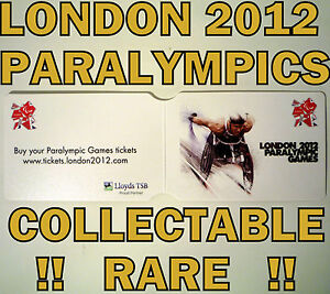LONDON OLYMPICS 2012 PARALYMPICS TFL OYSTER TRAVEL CARD HOL COLLECTABLE OFFICIAL