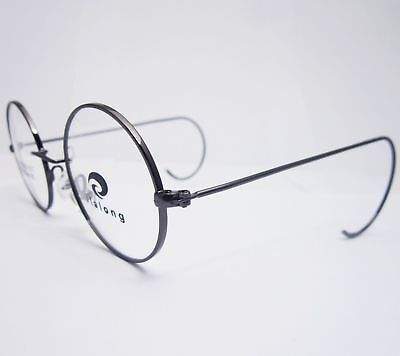 42mm Antique Vintage Round Silver Gold Wire Rim Eyeglass Frame For A Small (Eyeglass For Round Face)