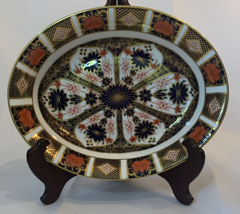 Royal Crown Derby 1128 Old Imari Oval Vegetable Bowl MINT!