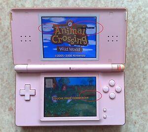 itm Nintendo DS Lite Rose Console OK avec chargeur Ecran en etat moyen