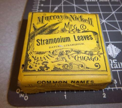 Vintage Murray & Nickell, Stramonium Leaves, 1900s Pharmacy New box, Chicago