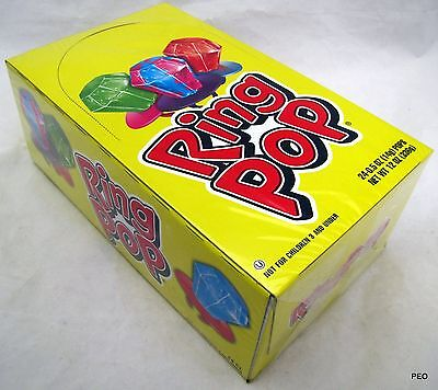 Ring Pops Bulk (Ring Pops 24 Ct Box Topps Candy Candies Bulk Lollipop Lollipops Pop Rings)