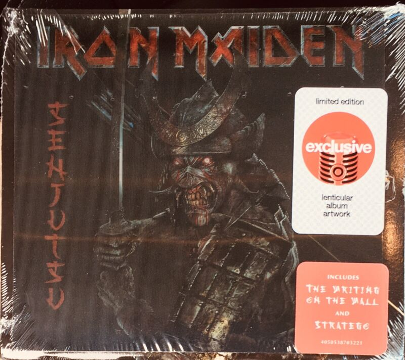"""""""Senjutsu"""" by Iron Maiden TARGET Exclusive Limited Lenticular CD Variant Cover"""