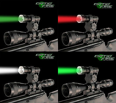 Opticfire® Nano-Zoom lamp scope mount gun light lamping hunting air rifle torch (Rifle Light Mount)