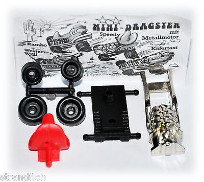 2 Metall Mini Dragster Speedy 1990  mit BPZ ungebaut
