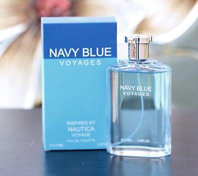 NAVY BLUE VOYAGES EAU DE COLOGNE TOILETTE PARFUM PERFUME 3.4 OZ EBC COLLECTION