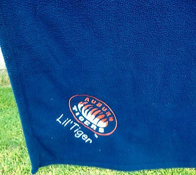 - Auburn Little Tiger Baby Throw Blanket Tigers Embroidered Blue Polyester
