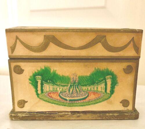 VINTAGE 1940s LANCOME PERFUME PRESENTATION BOX AND 4 BOTTLES
