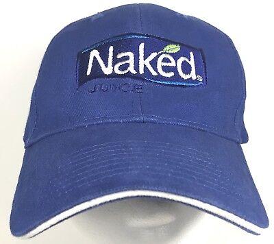 Naked Juice Drink Baseball Cap Hat Adjustable Embroidered Logo Blue (Blue Juice Drink)