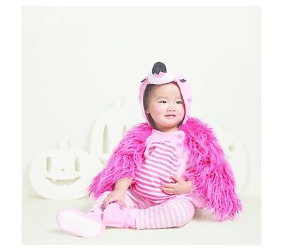 Flamingo Toddler Costume (Flamingo Costume 0 - 6 months Baby Toddler Party Play Halloween Fancy)