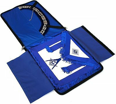 "Masonic Regalia COLLAR AND APRON BLUE BAG CASE ""ONLY"""