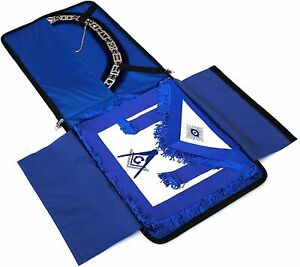 Masonic Regalia COLLAR AND APRON BLUE BAG CASE