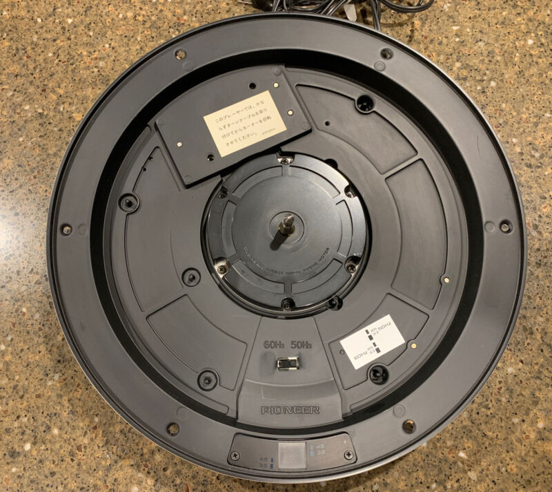 """💥Pioneer Pl-1800 Turntable """"Drive Motor Assembly Complete W/Cord, Nice 💥"""