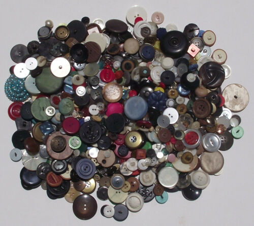 HUGE Lot of Old and Unusual Buttons