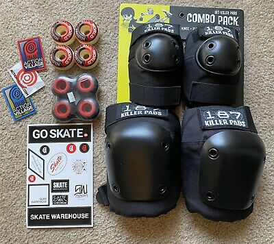 187 Killer Pads S/M Knee Pads Elbow Pads Set Skateboard Wheel Lot