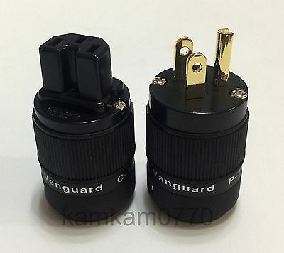 Vanguard For Audio 24K Gold Plated IEC connector + US plug, C-120G P-120G