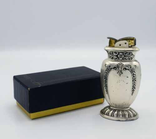 Evans Table Lighter Vintage Silverplate in Original Box & Pouch