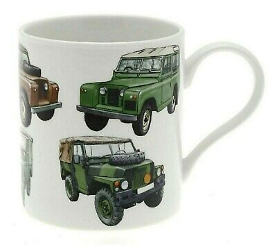 The Leonardo Collection, Becher, Oldtimer, 4x4, Land Rover, Porzellan Fine China 4 Fine China