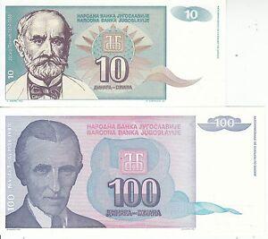 JUGOSLAVIA-YUGOSLAVIA-JUGOSLAVIJE-10-100-DINARI-1994