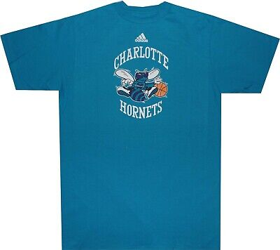 Charlotte Hornets 1992 Adidas Throwback Logo Teal T Shirt CLOSEOUT (Charlotte Hornets Logo)
