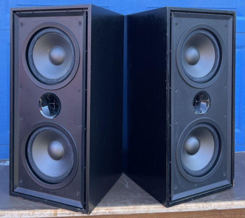 Sweet Sounding Pair KLIPSCH KG2.2 2.5-way Bookshelf Speakers ~ BLACK Cabs