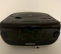 SONY Dream Machine CD Player ICF-CD815 FM/AM Radio Dual Alarm Clock TESTED