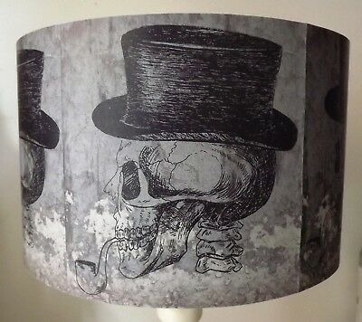 Skull Lampshade,light shade,Halloween ,Top Hat, Pipe, Gothic Free Gift - Halloween Lamp Shades