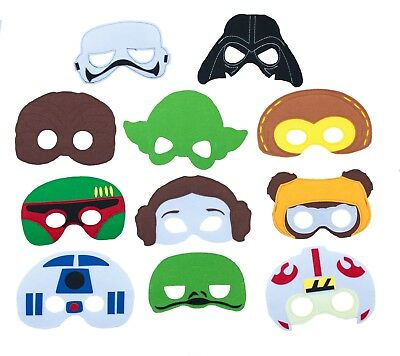 Star Wars Characters Felt Mask Children Party Favor Dress Up Lot option Gift bag - Star Wars Kids Dress Up