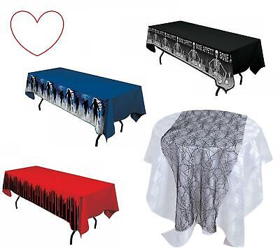 Halloween Table Cloth Plastic Covers Decorations Decs Runner Party Supplies - Halloween Party Table Cloth