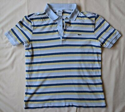 Lacoste Alligator Logo Striped Polo Shirt Size 5