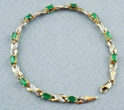 10ct Oval Cut Emerald & Diamond 14k Yellow Gold Finish Women
