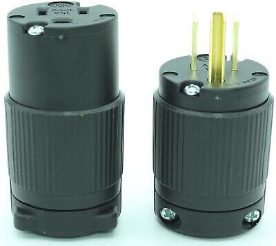 EAGLE TWIST TURN LOCKING PLUG CONNECTOR 15A 125V USED lot of 3