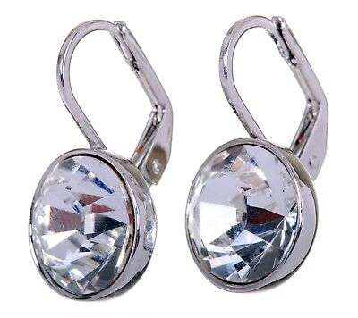 (Swarovski Elements Crystal Brilliance Bella Mini Pierced Earrings Rhodium 7172b)