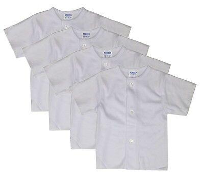 Unisex Baby 4-Pack Snap T-Shirt White Newborn Clothes Undershirt 3 6 9 12 Months - Infant Snap T-shirt
