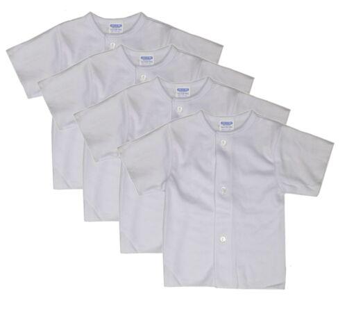 Unisex Baby 4-Pack Snap T-Shirt White Newborn Clothes Undershirt 3 6 9 12 Months