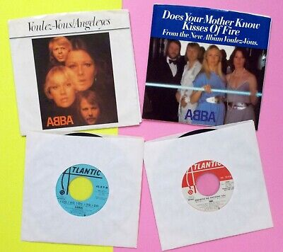 ABBA x2 45 LOT: featuring 2x PICTURE SLEEVE + 2x PROMO Issues VOULEZ-VOUS  RP328