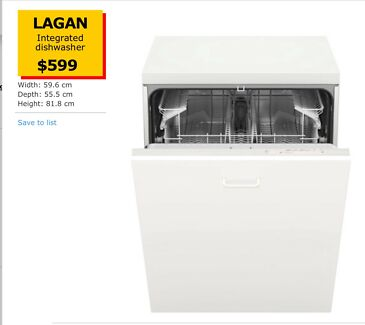 DISHWASHER - NEW IKEA INTEGRATED DISHWASHER